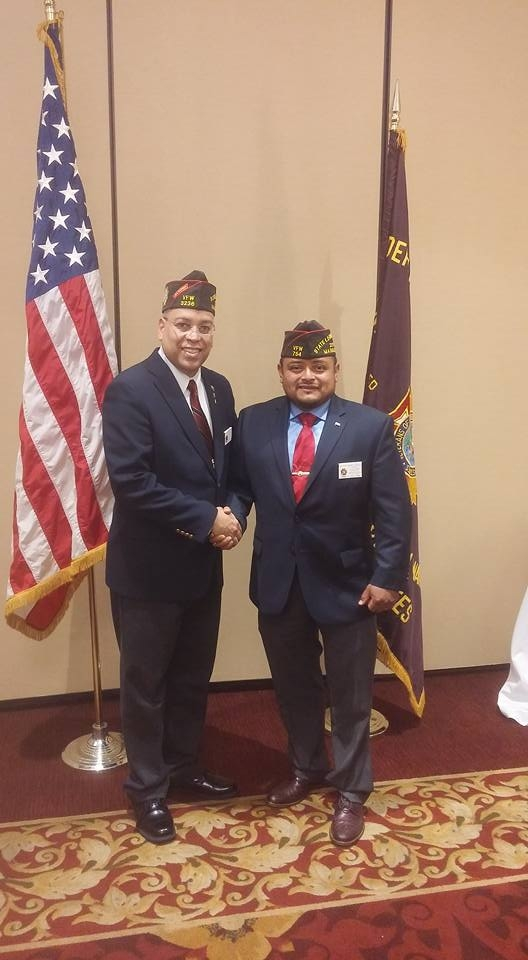 New Department Officers, VFW State Commander Eric Segundo Sr and VFW State Legislative Aid Victor Nunez-Ortiz.