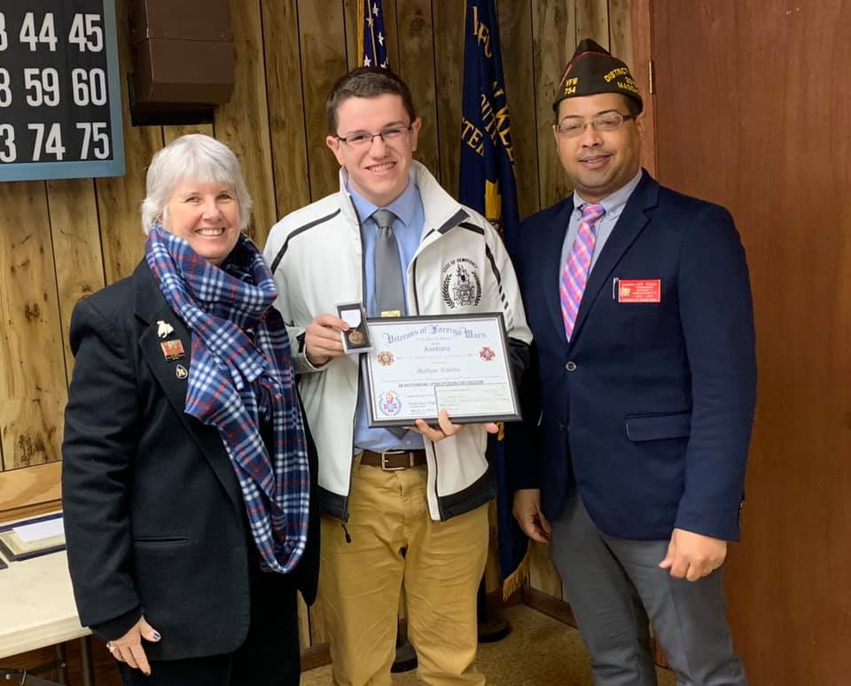 Matthew Tibbitts, Massachusetts VFW Voice of Democracy Winner