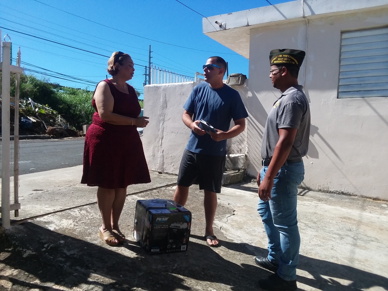 On December 9th 2017, VDAC delivered a generator to the dependent of a deceased veteran, who was in need of one to continue to help with his college education. Thank you Veterans Church from Florida and Pastor Kenneth Torres for donating the generator Hector Morales received on this day.