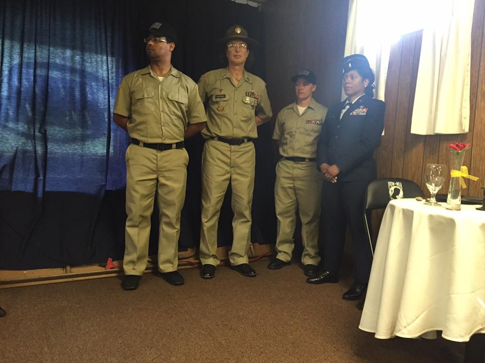 (Left to right) Post Senior Vice Commander Gamalier Rosa, Post Trustee Brianna F. MacKinnon, Post Adjutant Amy Henrikson and Post Chaplain Anita Morris.